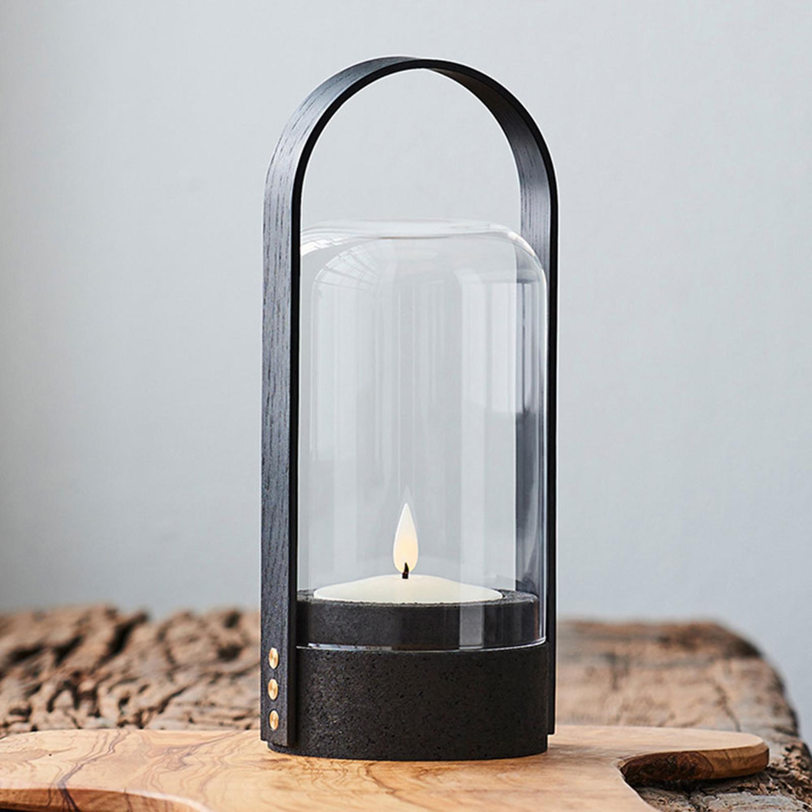 LE KLINT Candle Light LED-Laternenleuchte, schwarz