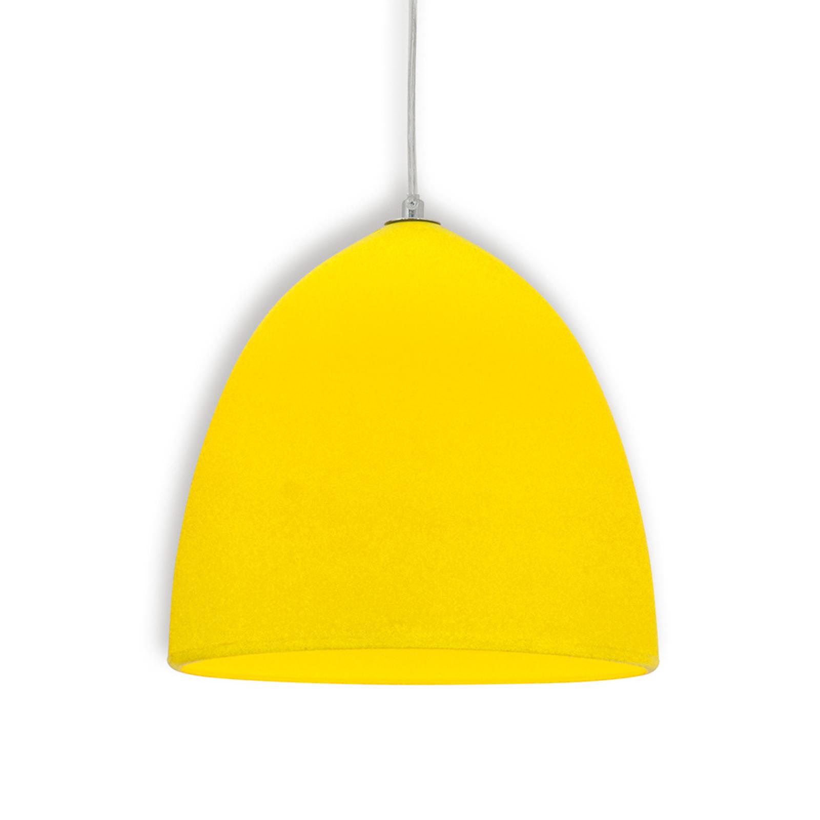 Lampada a sospensione Fancy in silicone giallo