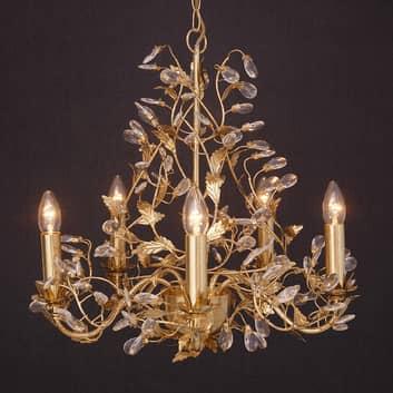 Udsøgt Buono lysekrone i guld med fem lys