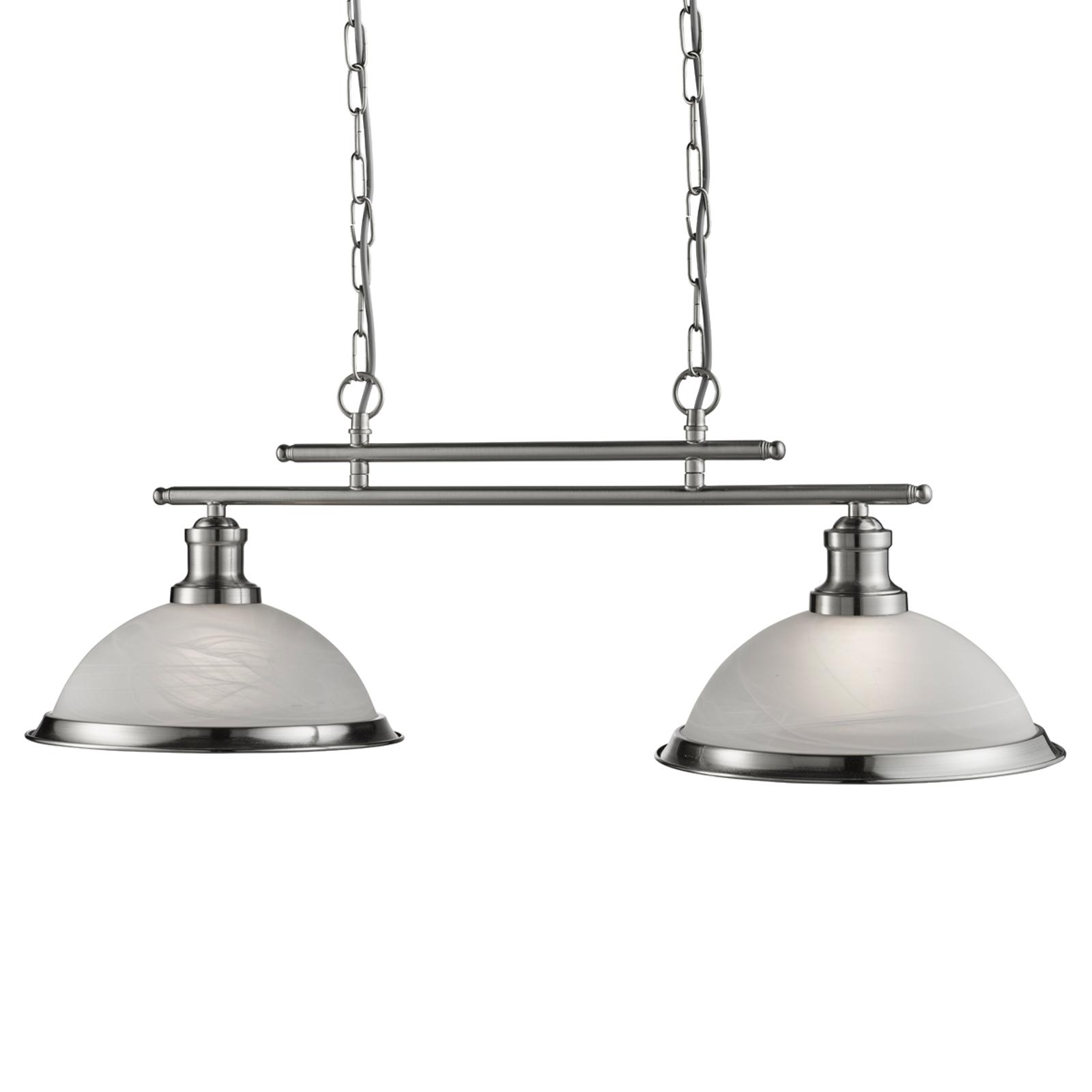 Elegant Bistro hanging light with 2 bulbs, antique_8570915_1