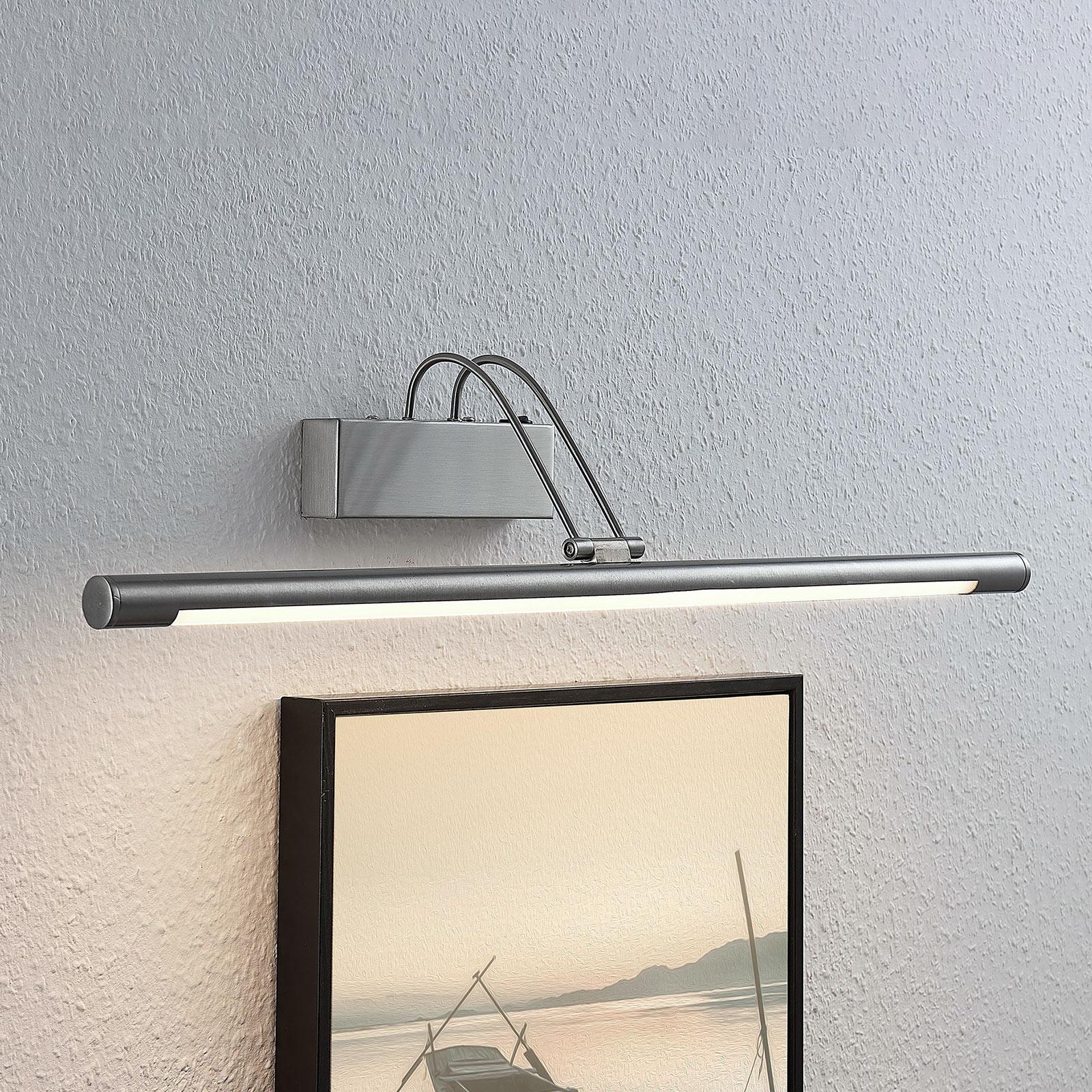 LED-Bilderleuchte Mailine mit Schalter, nickel