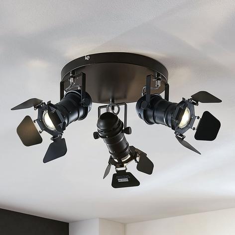 Lámpara de techo Tilen, 3 brazos diseño de foco