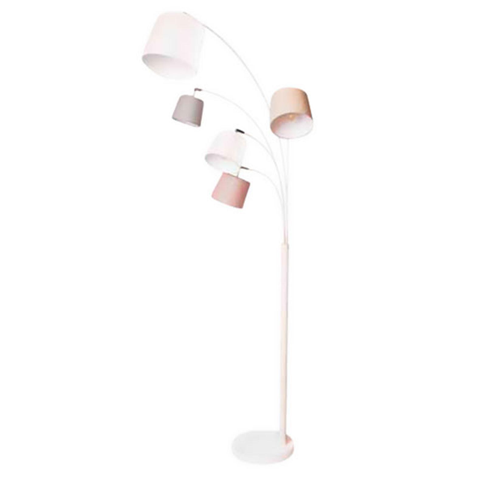 By Rydéns Foggy lámpara de pie, 5 pantallas blanco