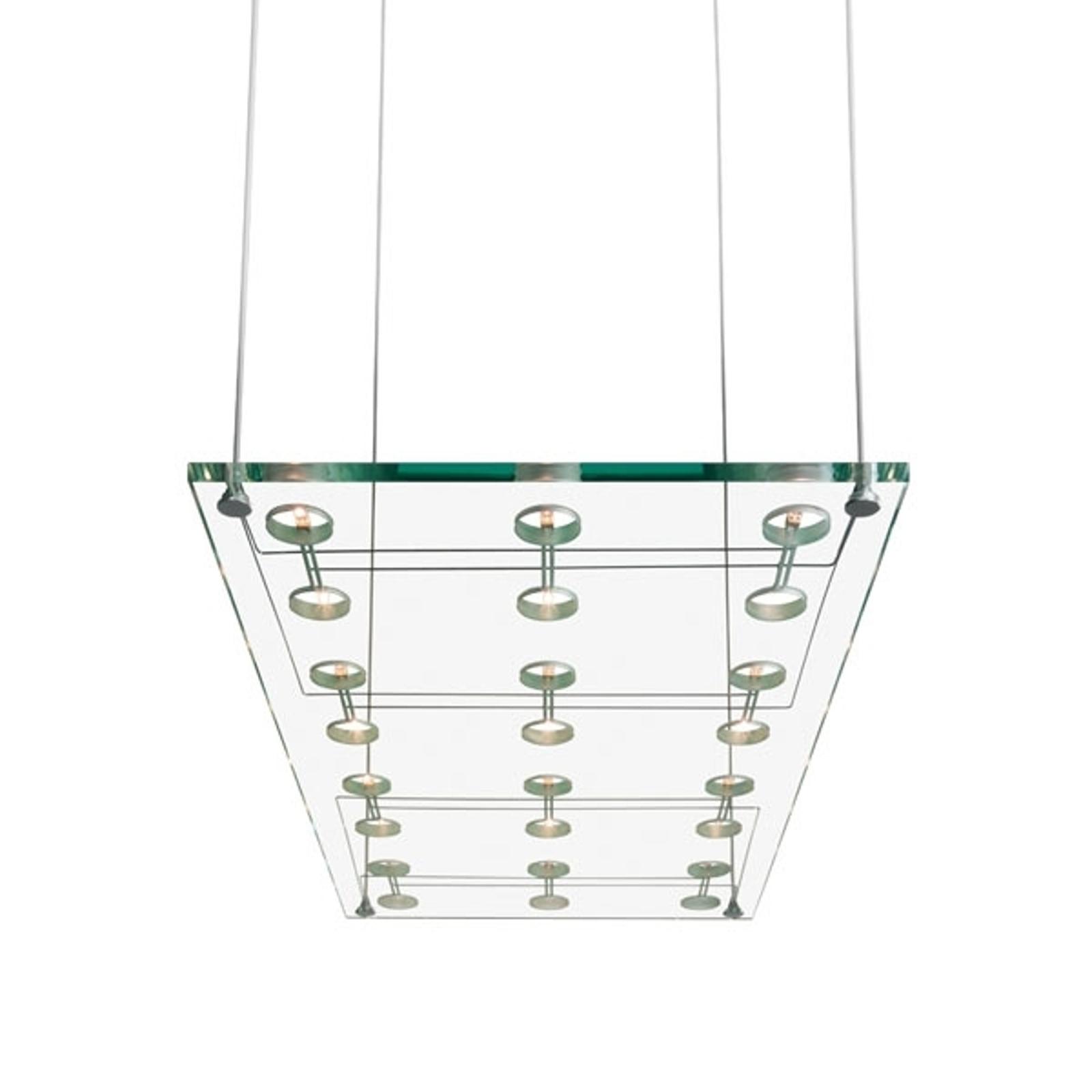 Tyylikäs design-riippuvalaisin SOSPESA, lasinen