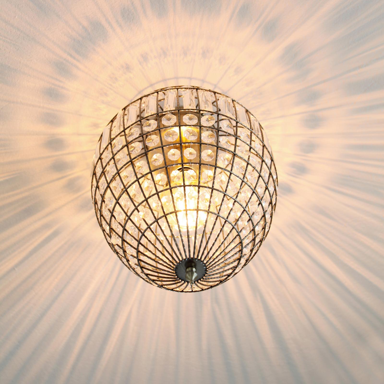 By Rydéns Amadeus plafondlamp, antiek, glas-decor