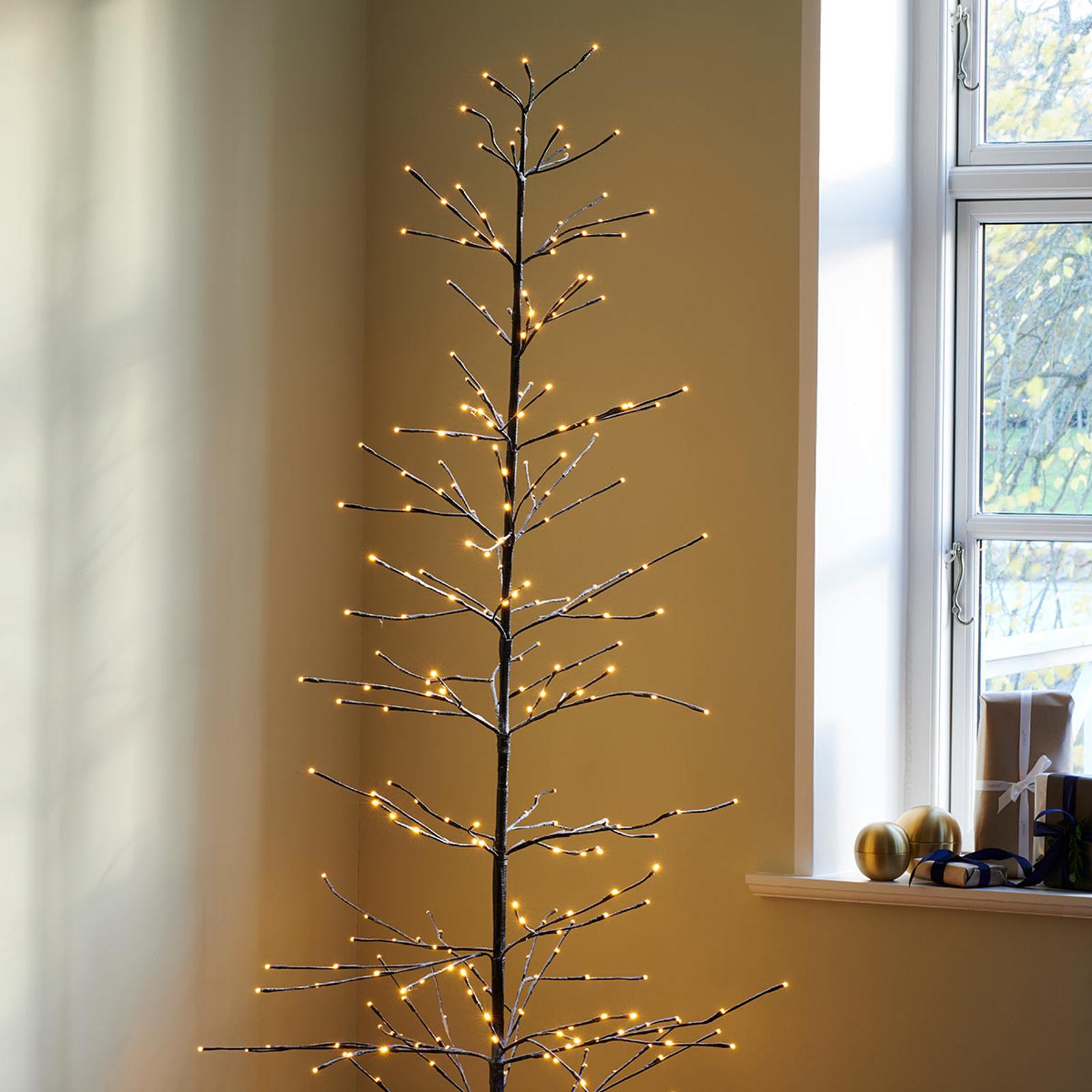 Verschneit glitzernder LED-Baum Isaac