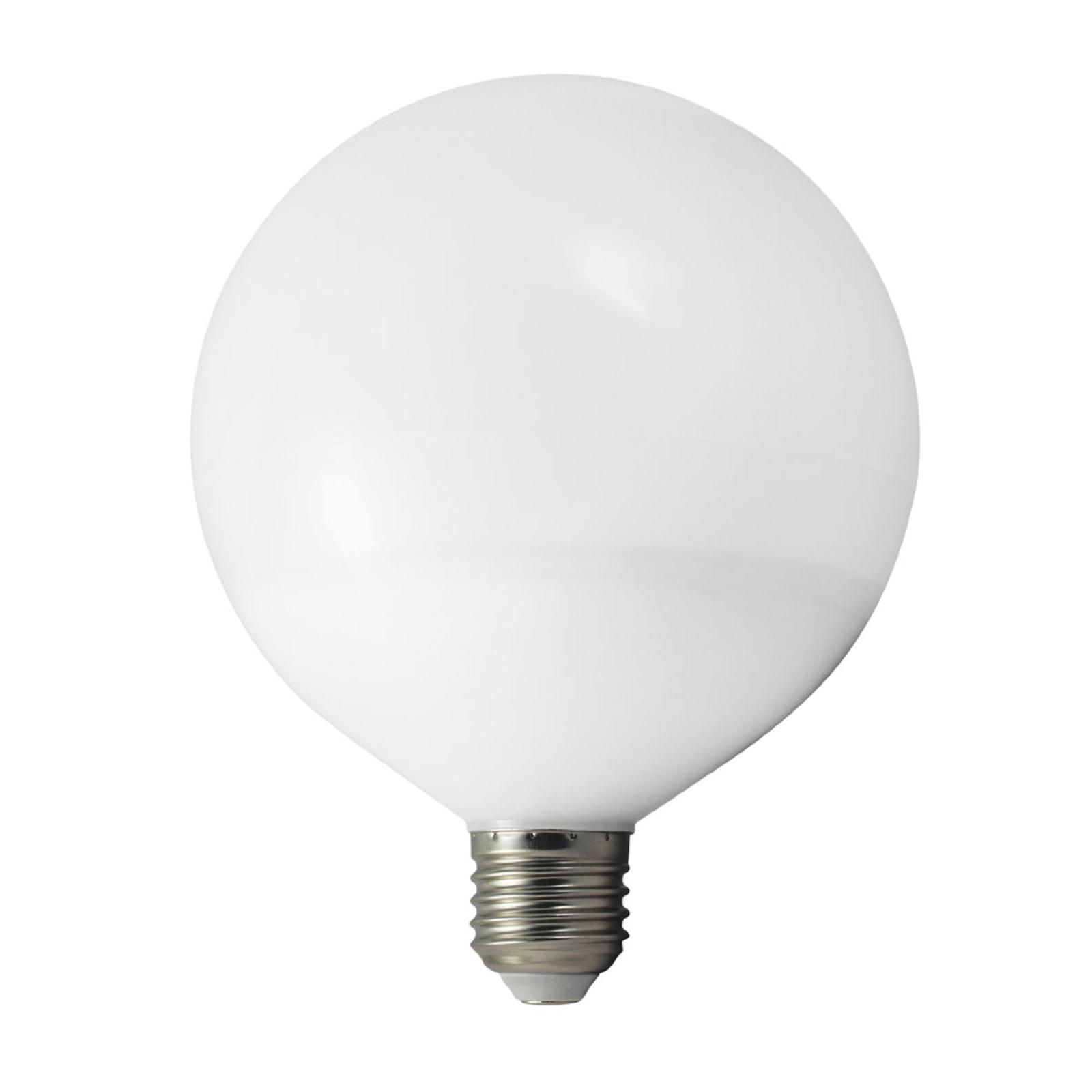 E27 15W 827 LED žárovka Globe, teplá bílá