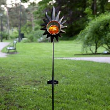 LED-solcellelampe Melilla, sol, glasskule