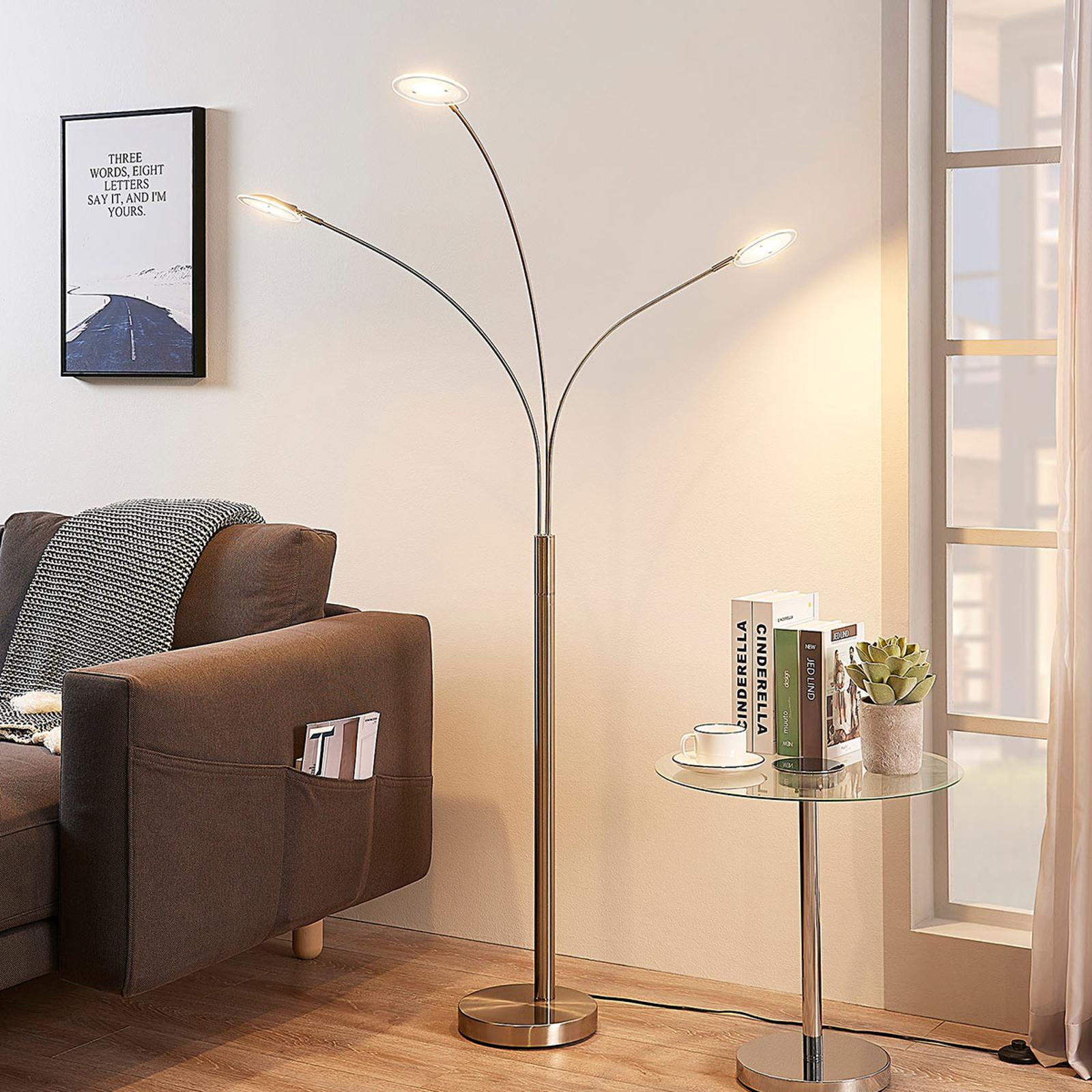 3-flammige LED-Stehlampe Anea
