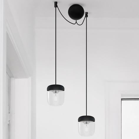 Riippuvalaisin Acorn, 2lamppua, musta ja teräs