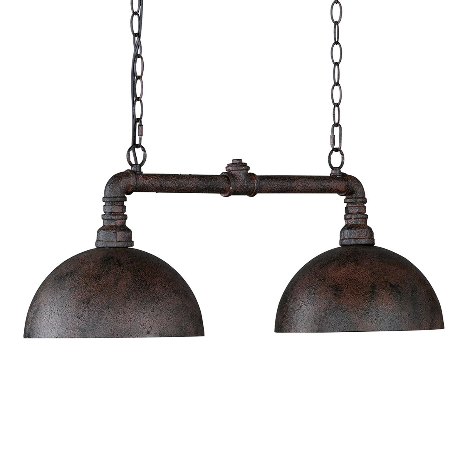 Hanglamp Leitung met twee lampjes