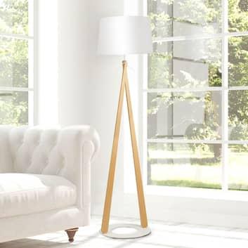 Zazou LS gulvlampe, tekstilskjerm