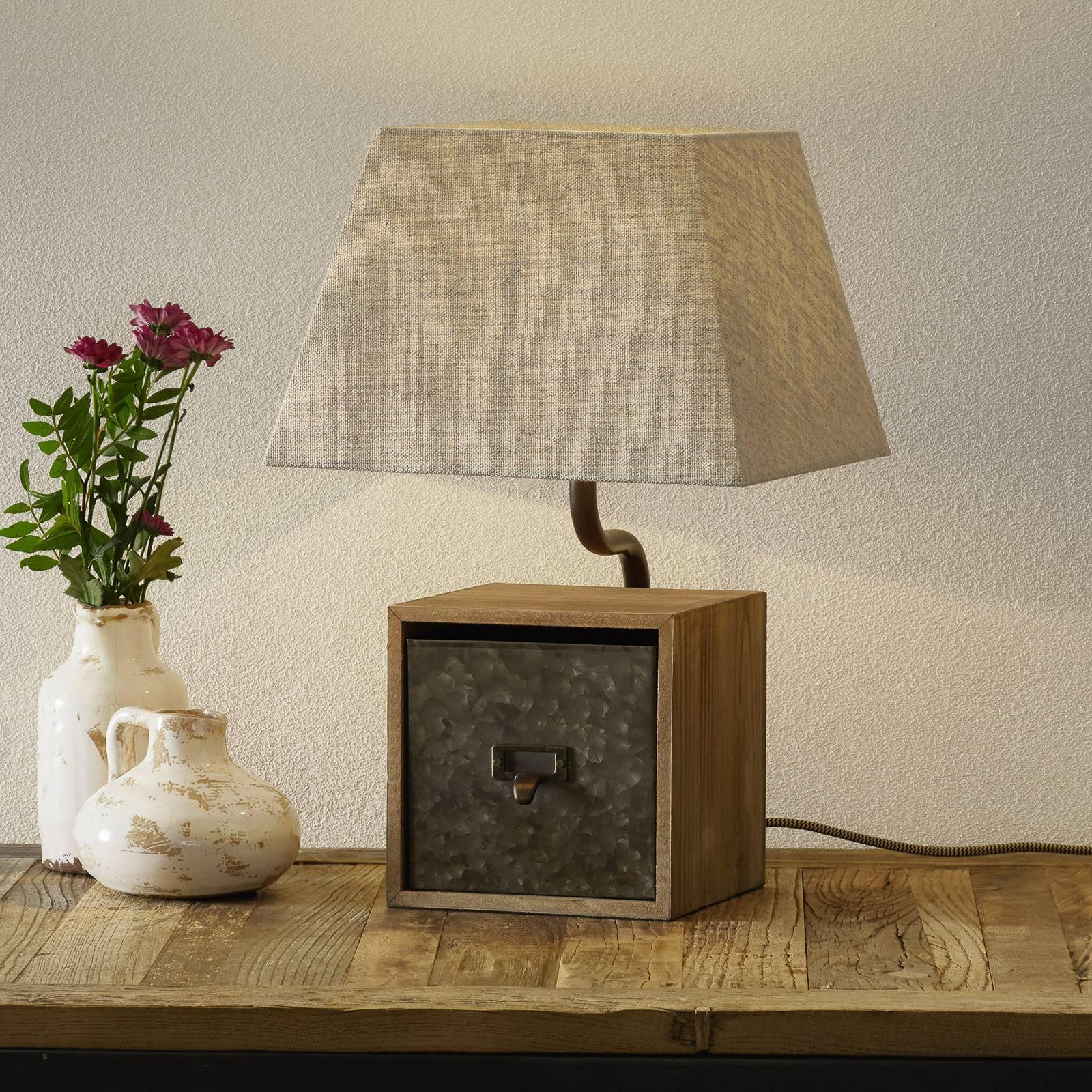 Tafellamp Cassetto met lade, hoogte 46 cm