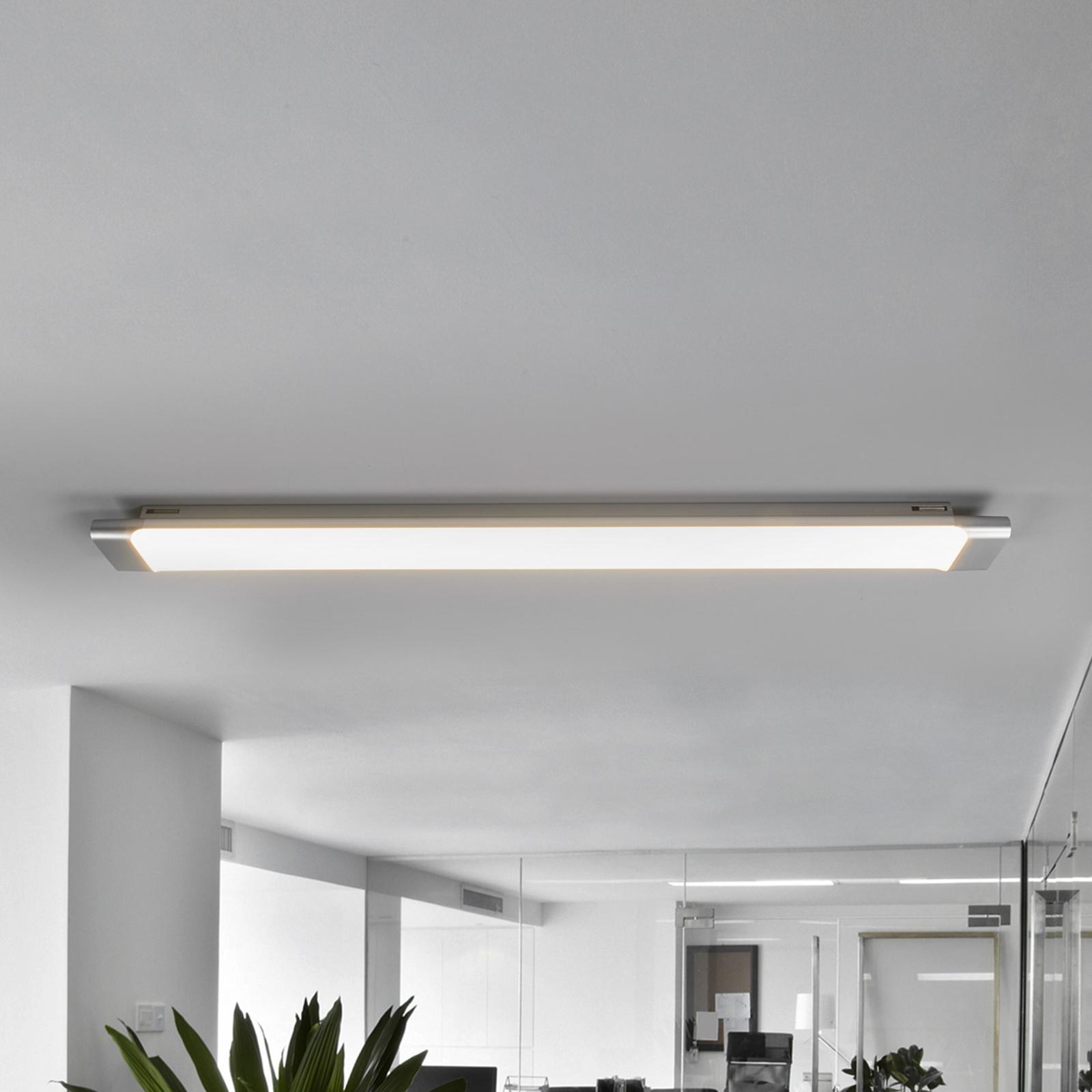 Plafonnier LED pratique Vinca, 90 cm