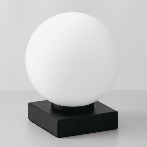 Tischleuchte Enoire in Schwarz und Weiß, 1-flammig