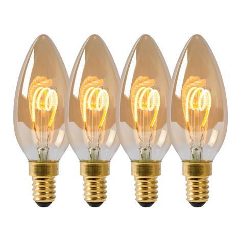 LED-Kerzenlampe E14 3W 2.200K dimmbar 4er-Set
