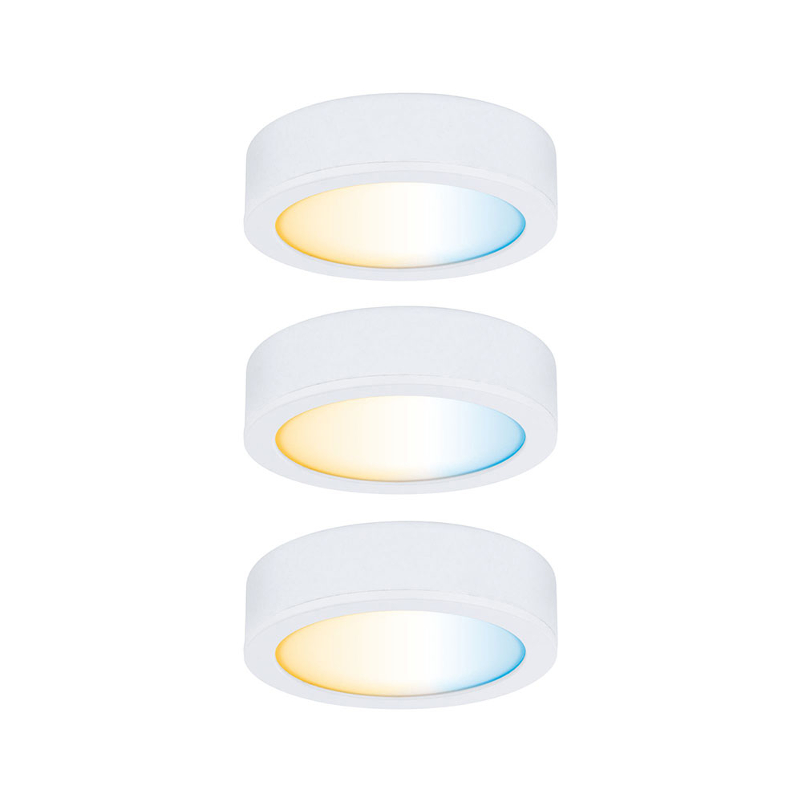 Paulmann Clever Connect Disc lampa do mebli 3 szt.