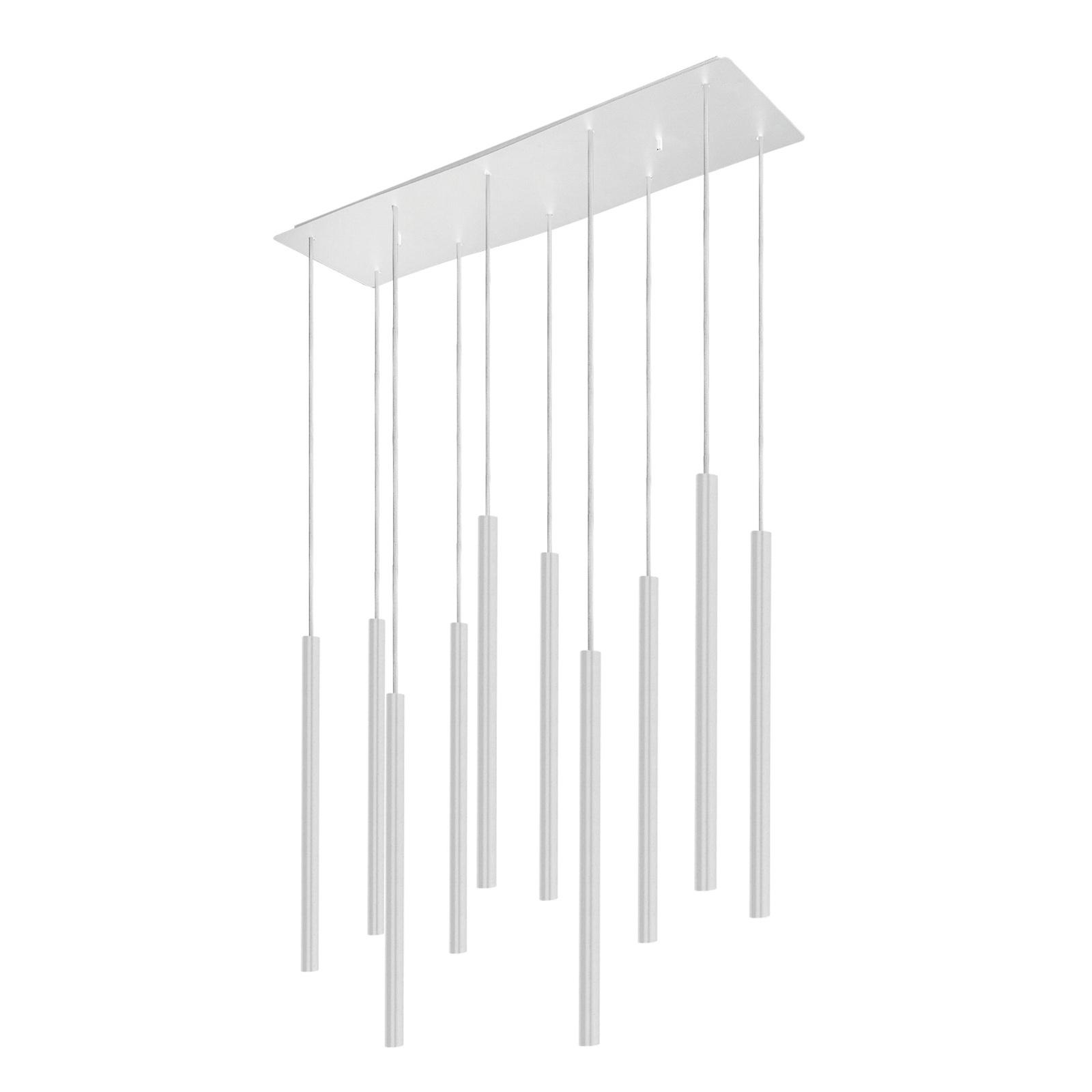 Hanglamp Laser, 10-lamps, wit