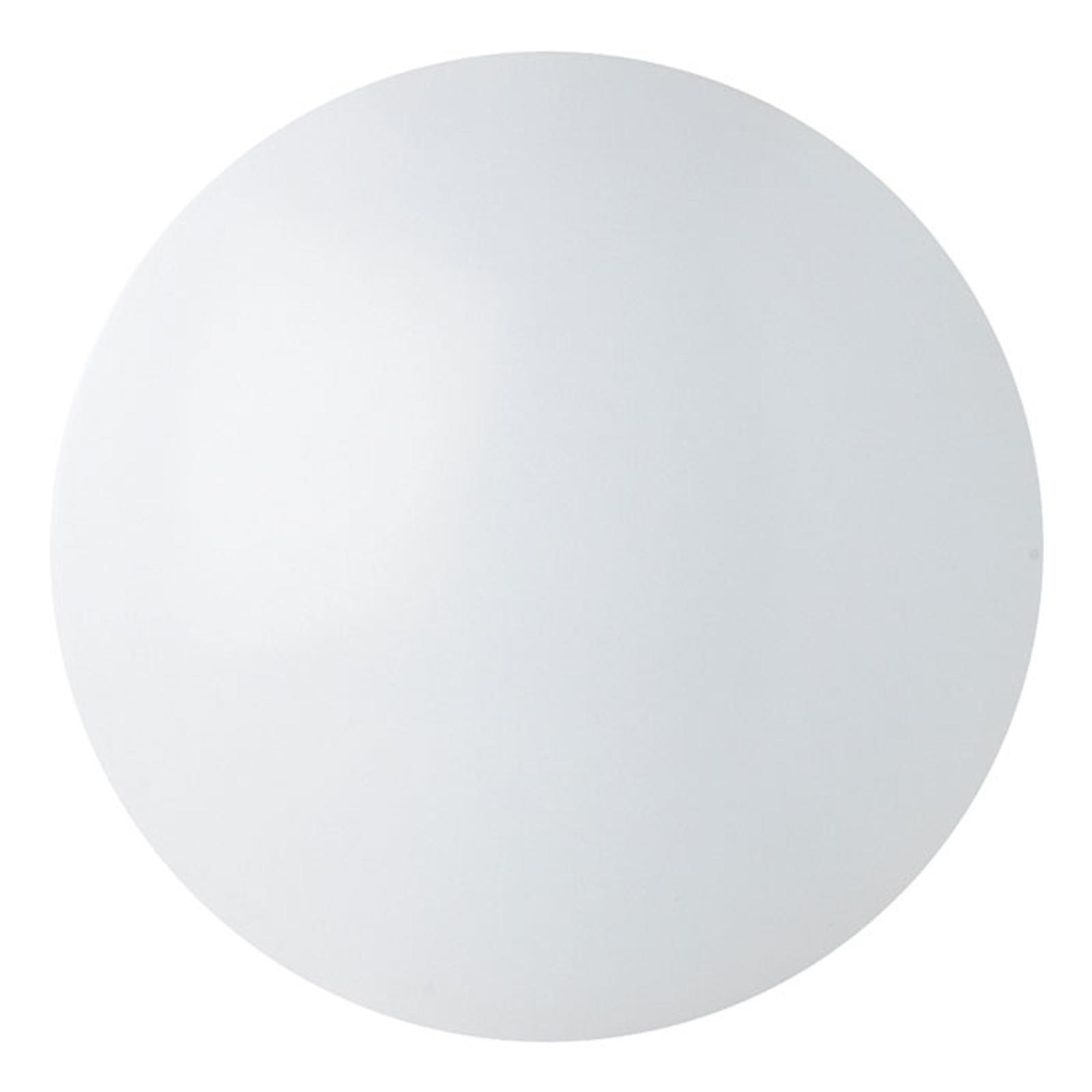 Renzo - plafonnier LED rond IP44, blanc chaud