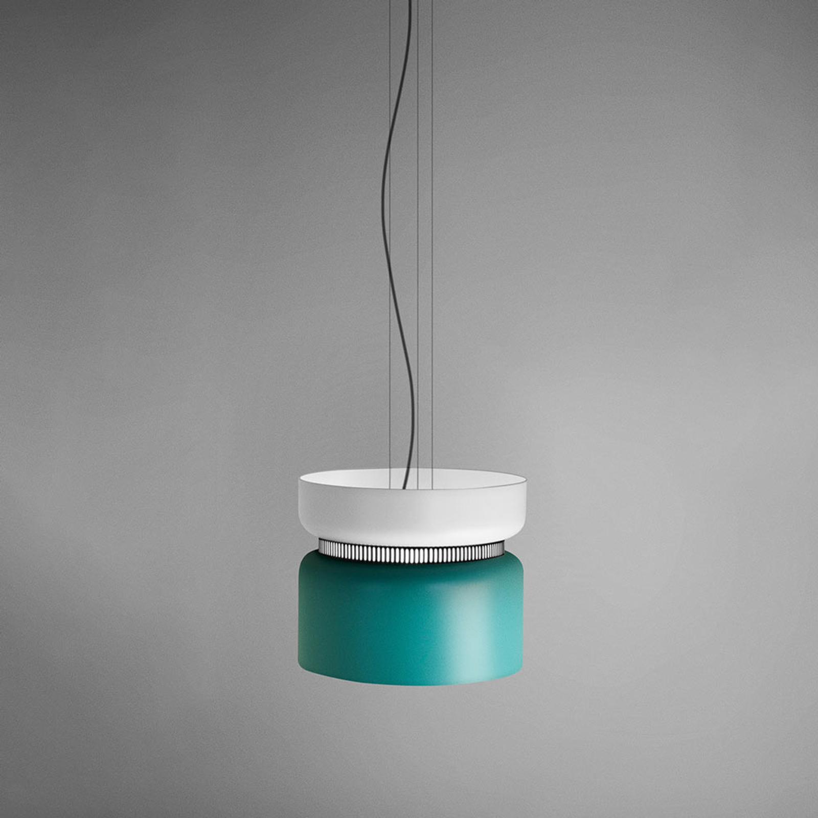 Suspension LED Aspen S blanc-turquoise 40 cm