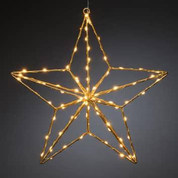 LED-koristevalaisin, kultatähti 37 x 36 cm