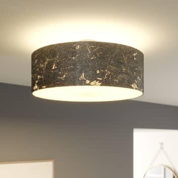 Plafondlamp Aura, bezet m. zilveren slagmetaal