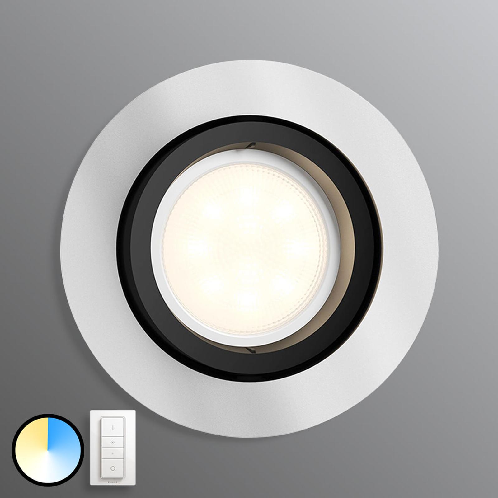 Philips Hue Milliskin okrągły aluminium ściemniacz