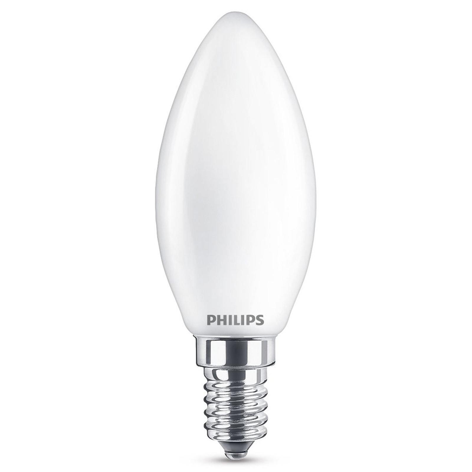 Philips LED-Kerzenlampe E14  B35 4,3W 827 opal