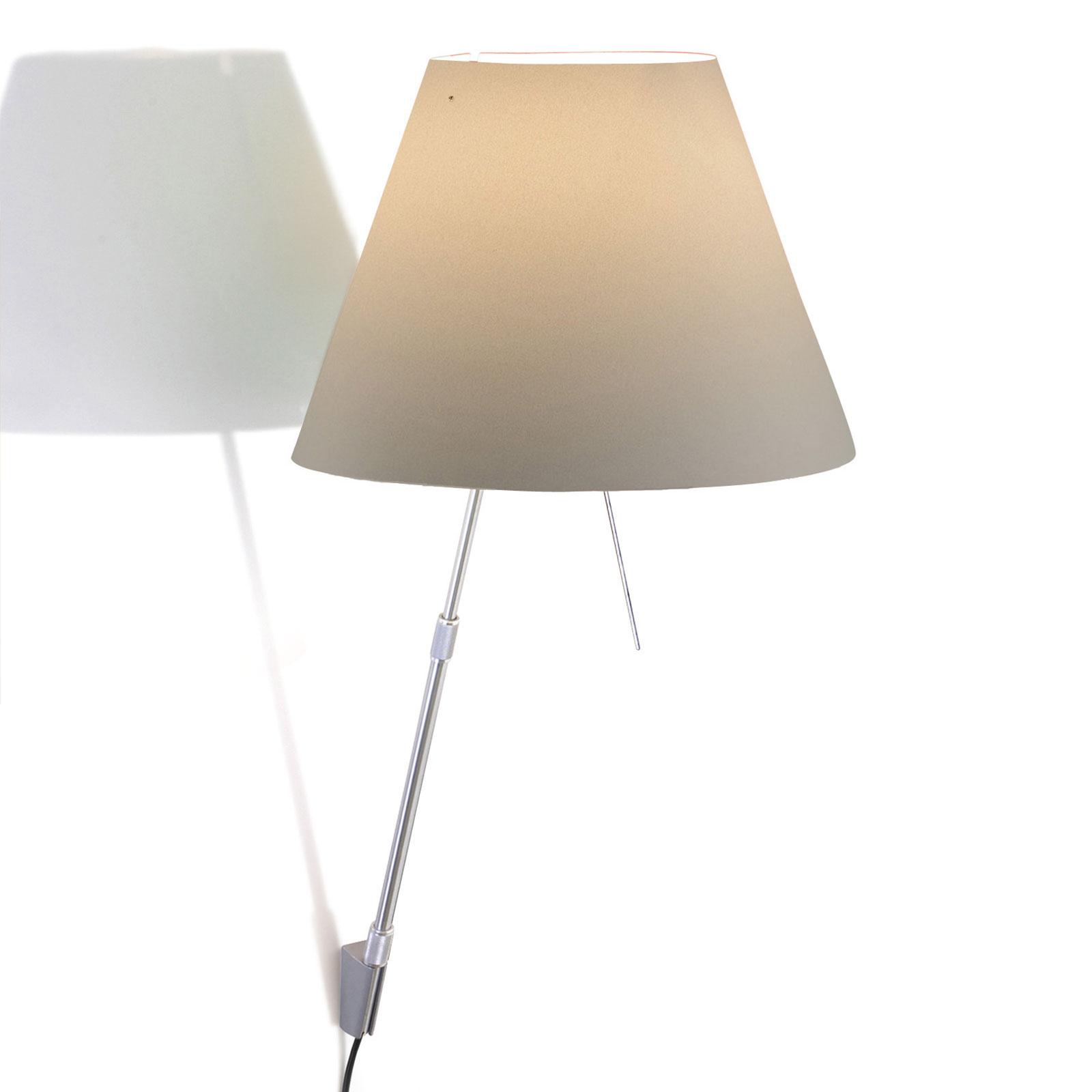 Luceplan Costanza applique D13a, alu/blanc brume