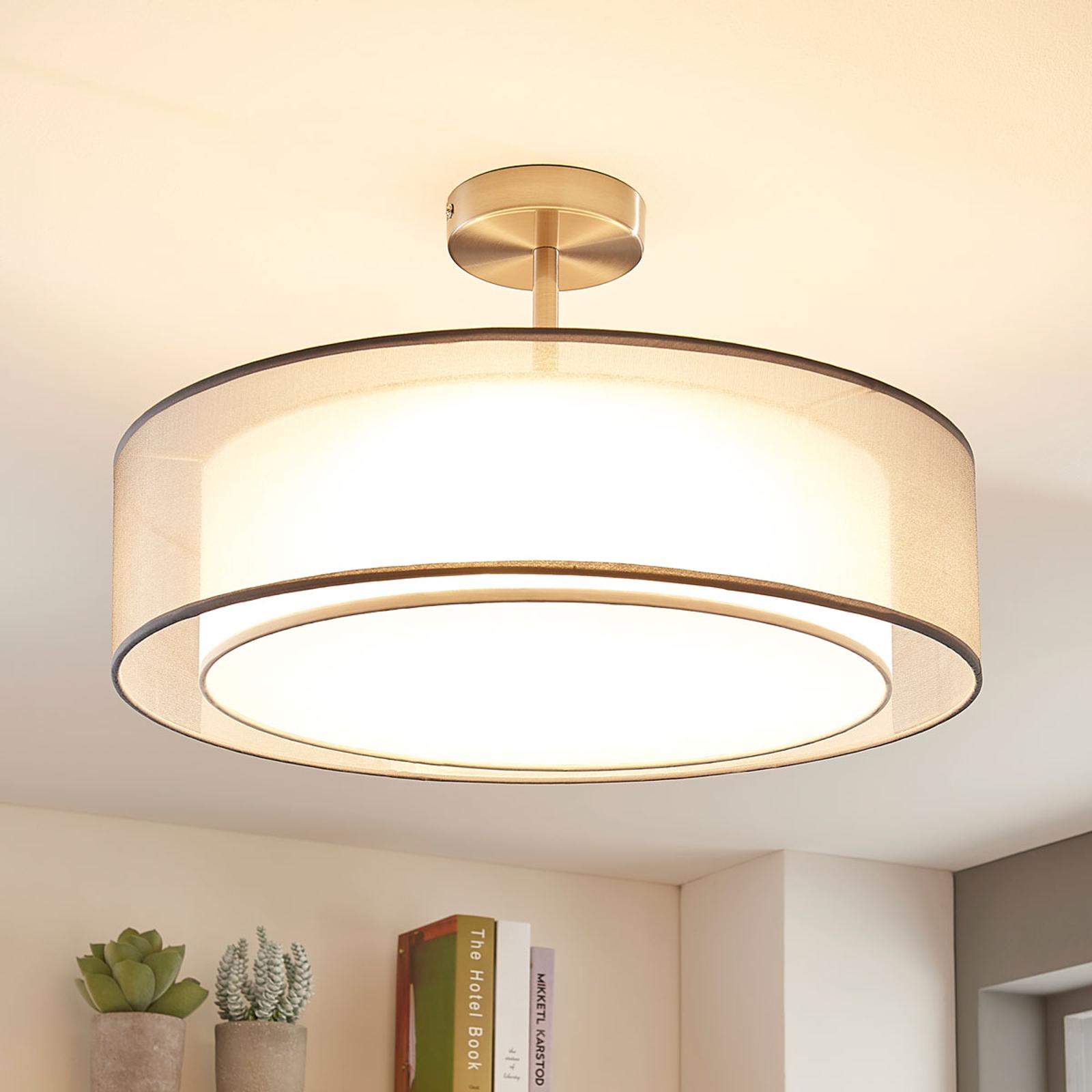 Lampa sufitowa LED Pikka, ściemniana, szara