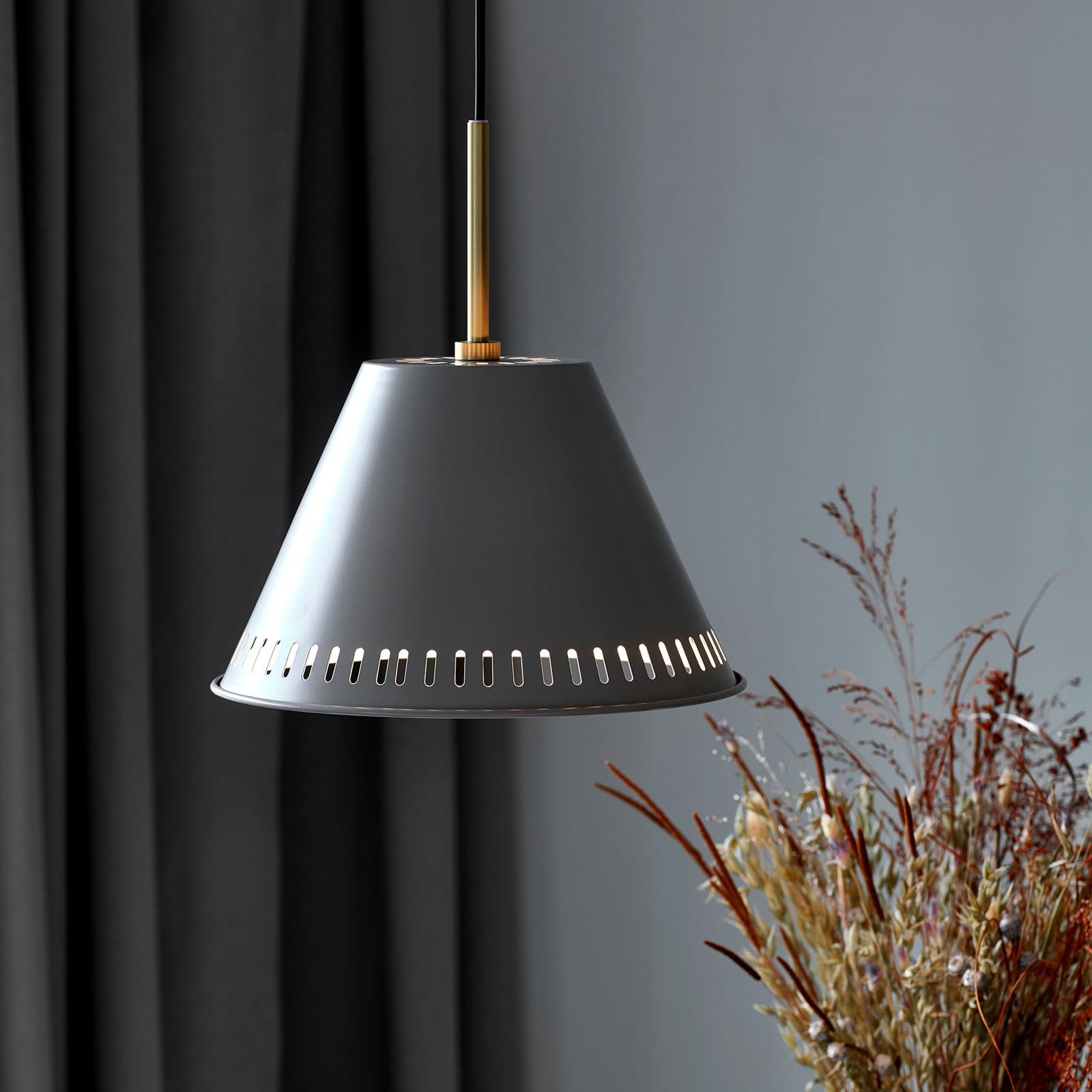 Lampa wisząca Pine, 1-punktowa, szara