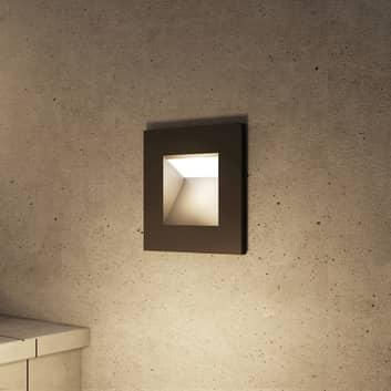 Arcchio Zamo LED inbouwlamp, zwart