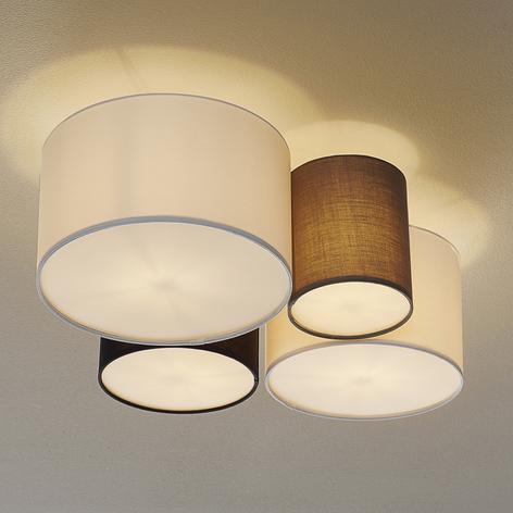Loftlampe Hotel med fire tekstilskærme