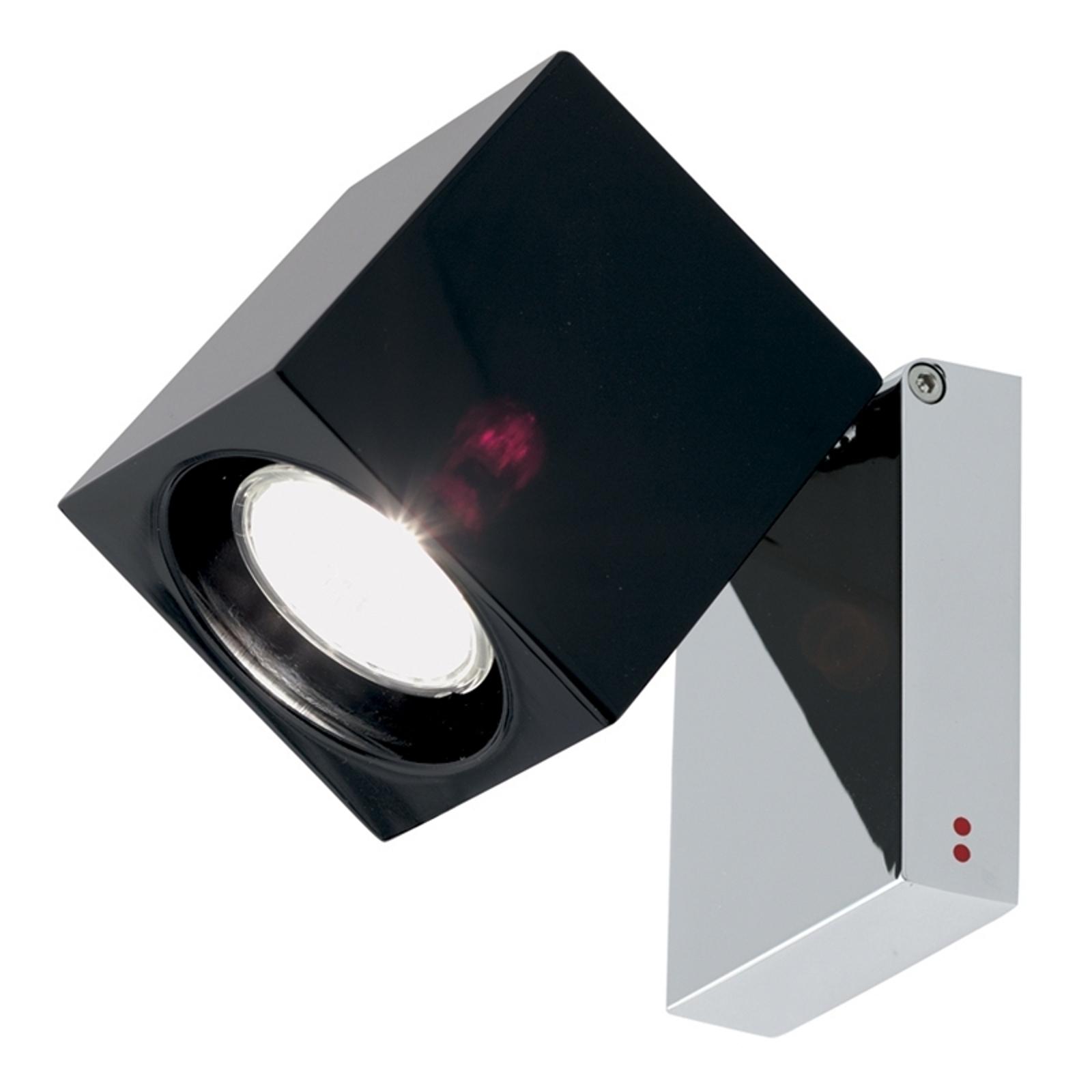 Genialny reflektor ścienny CUBETTO GU10 czarny