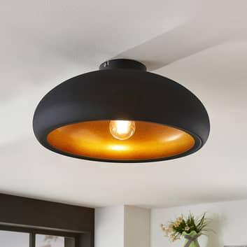 Metalowa lampa sufitowa Gerwina, czarno-złota