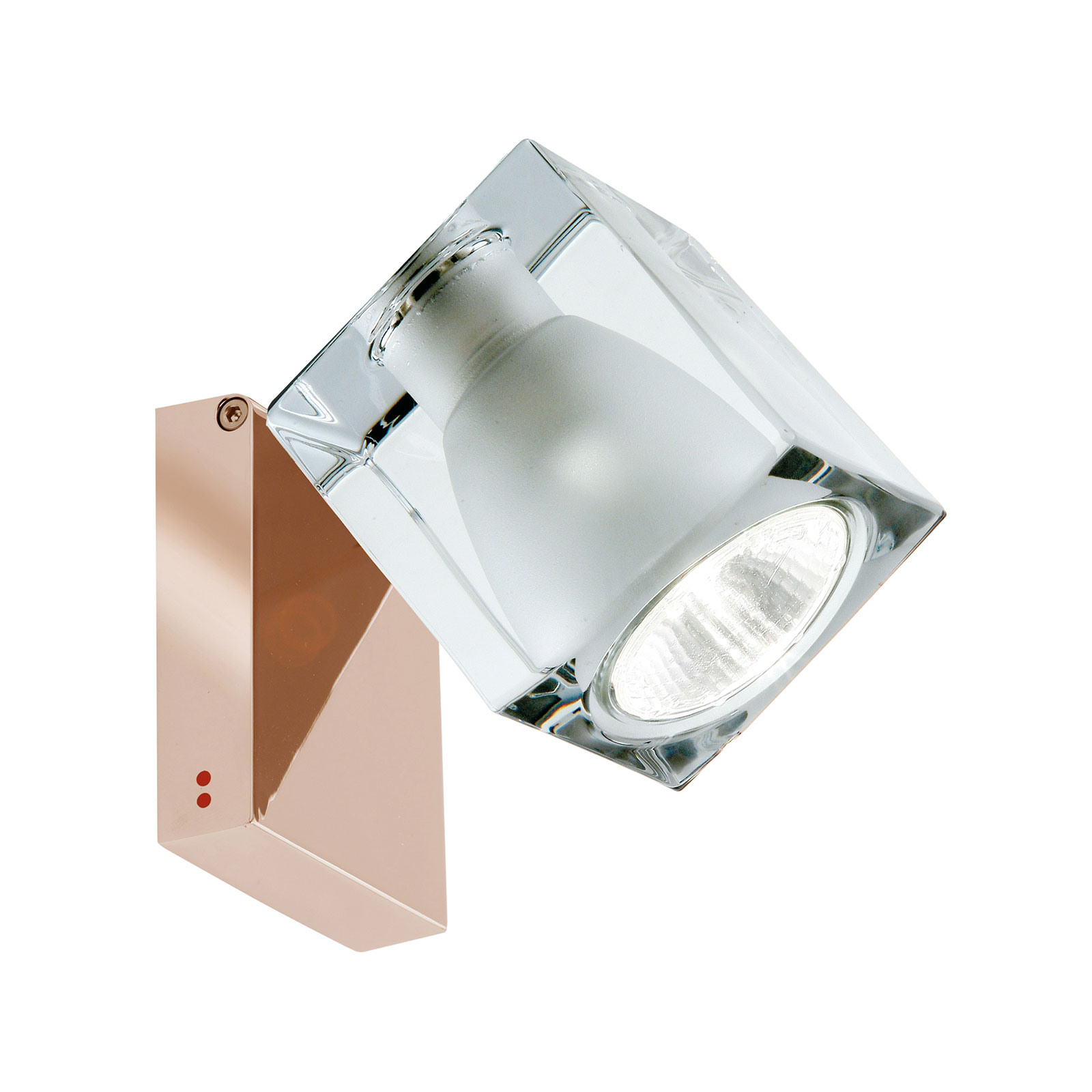 Fabbian Cubetto wandlamp GU10 koper/helder