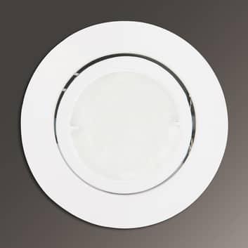 Joanie - lámpara empotrada LED en blanco, redondo