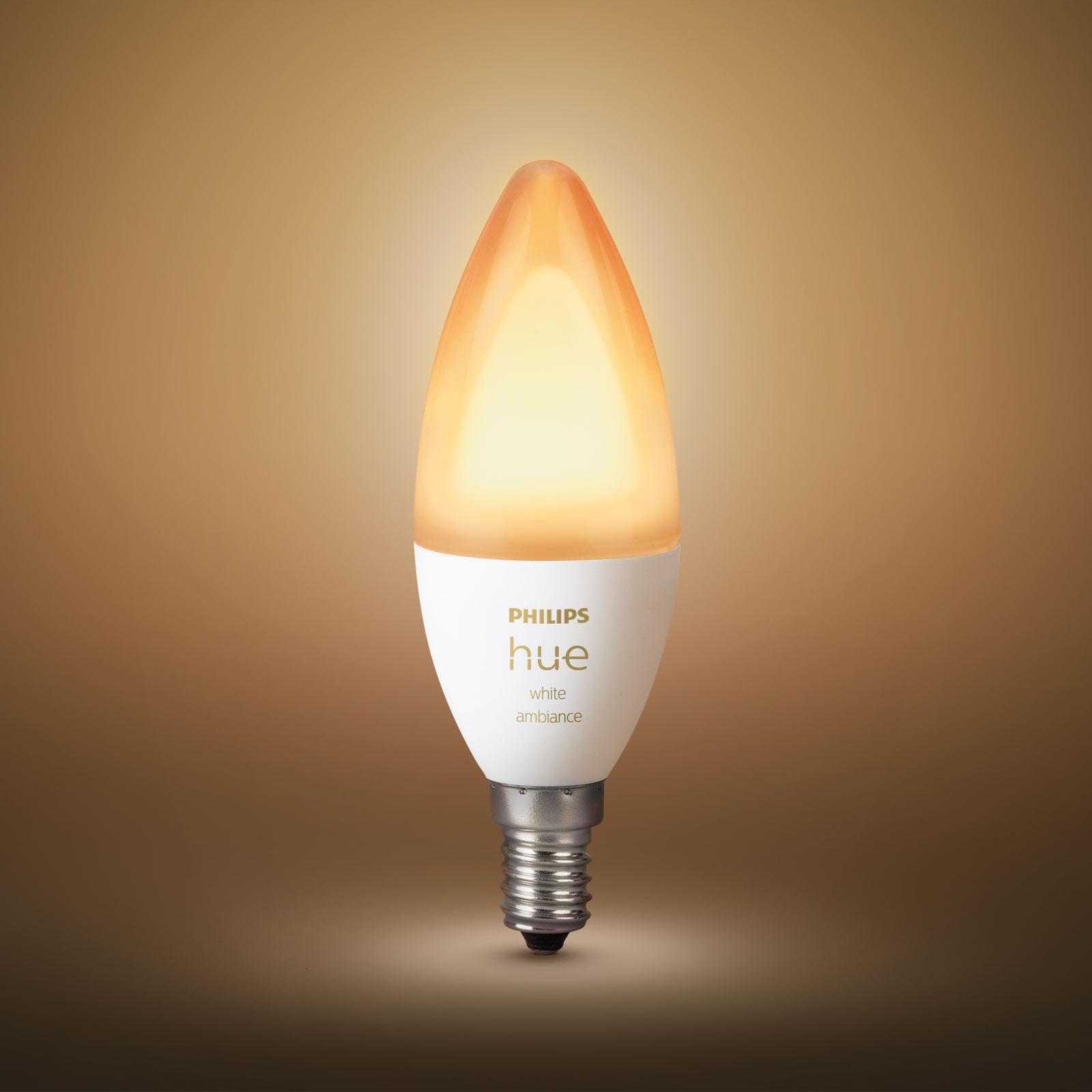 Philips Hue Kerzenlampe White Ambiance 2x E14 5,2W