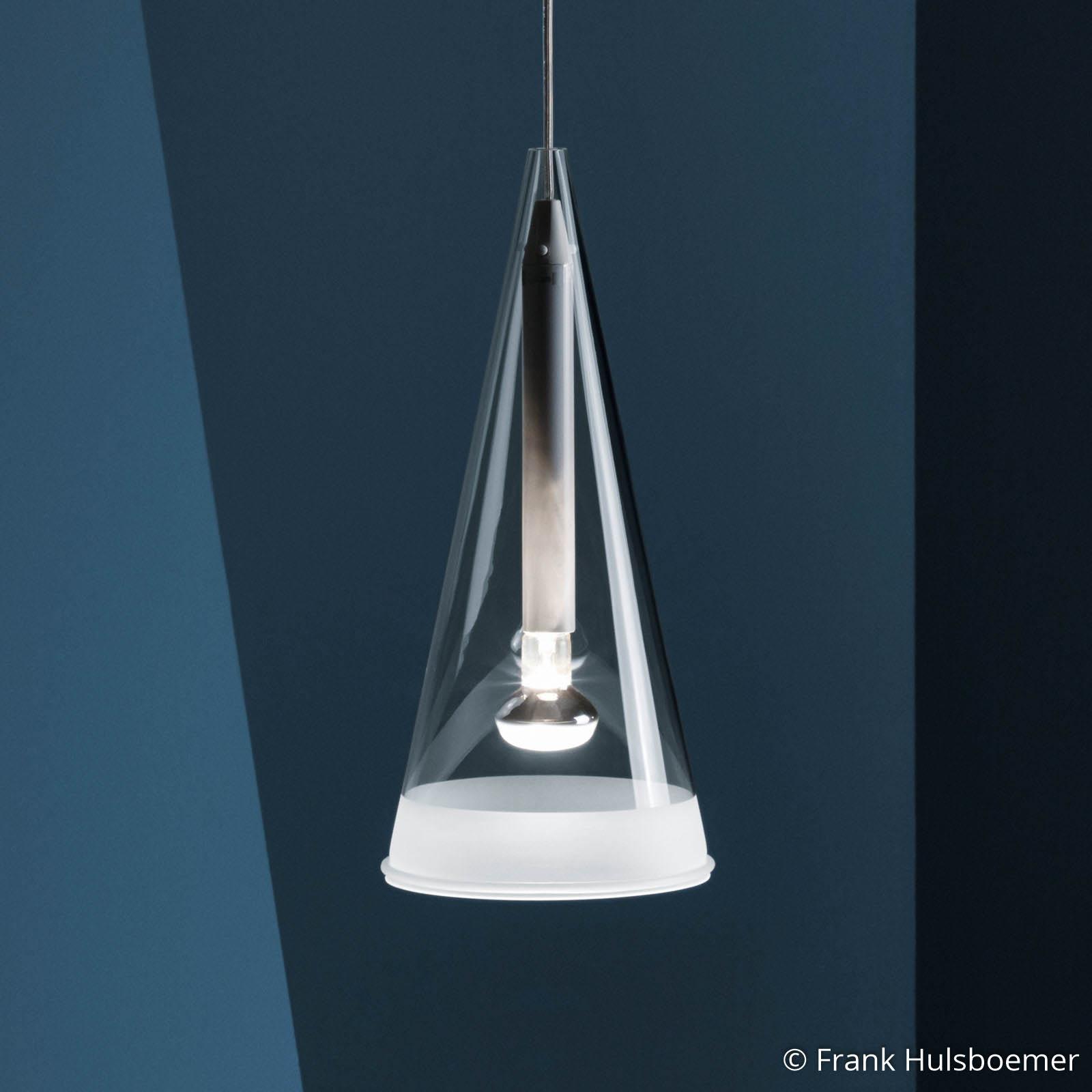 FLOS Fucsia hængelampe af glas, 1 lyskilde