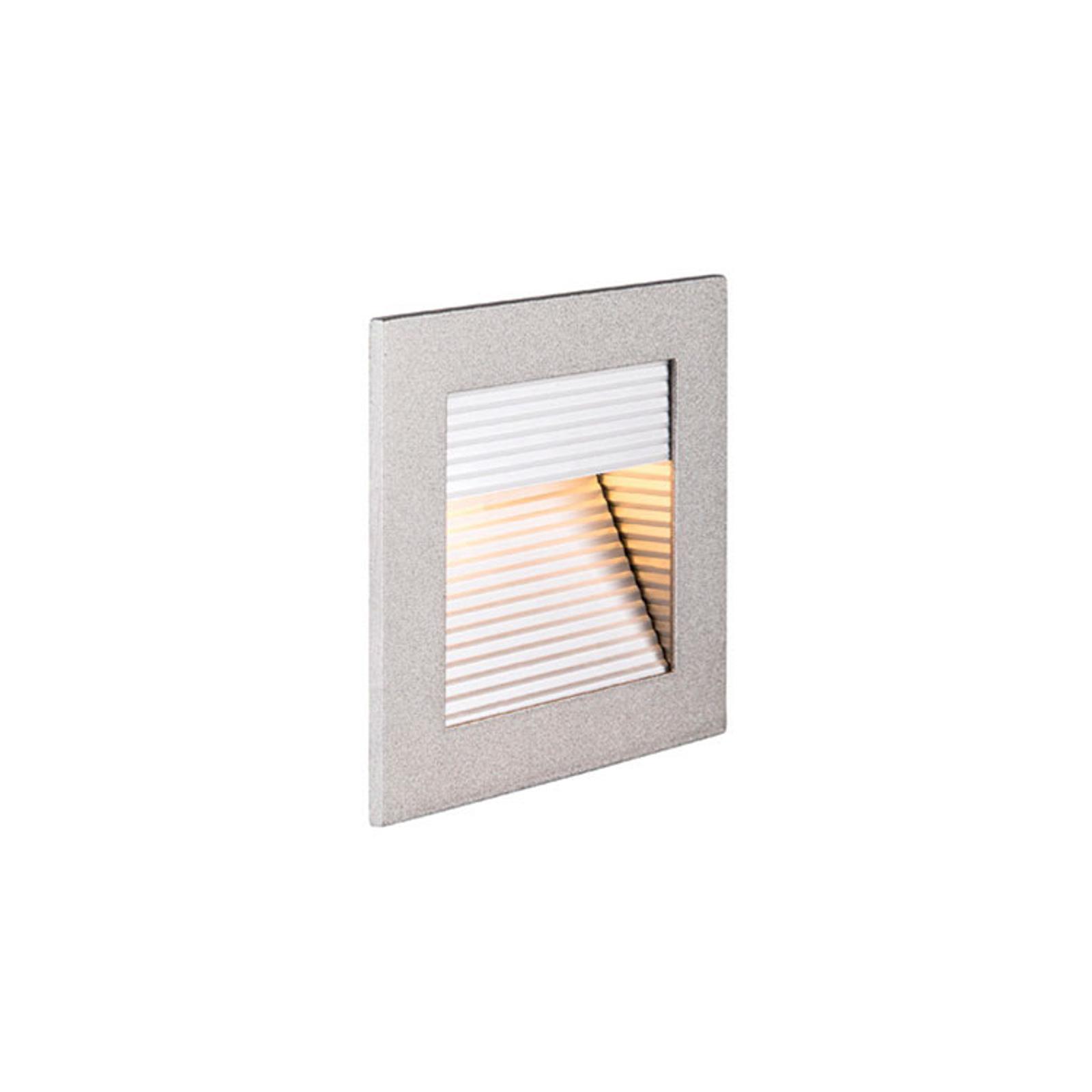 SLV Frame Curve lampe encastrable LED argentée