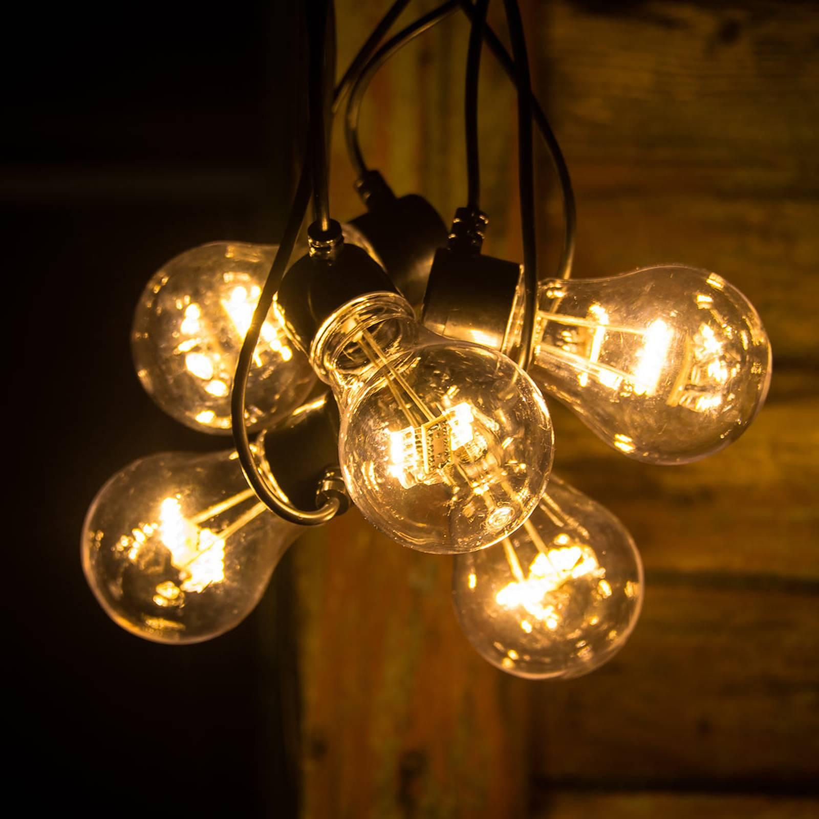 Image of Guirlande LED filament ambre 5 lampes 07318302372804