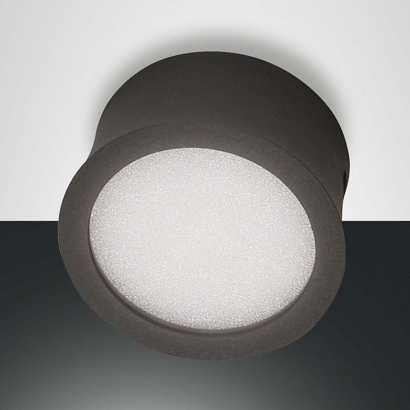 Antracietkleurige LED downlight Ponza concave vorm