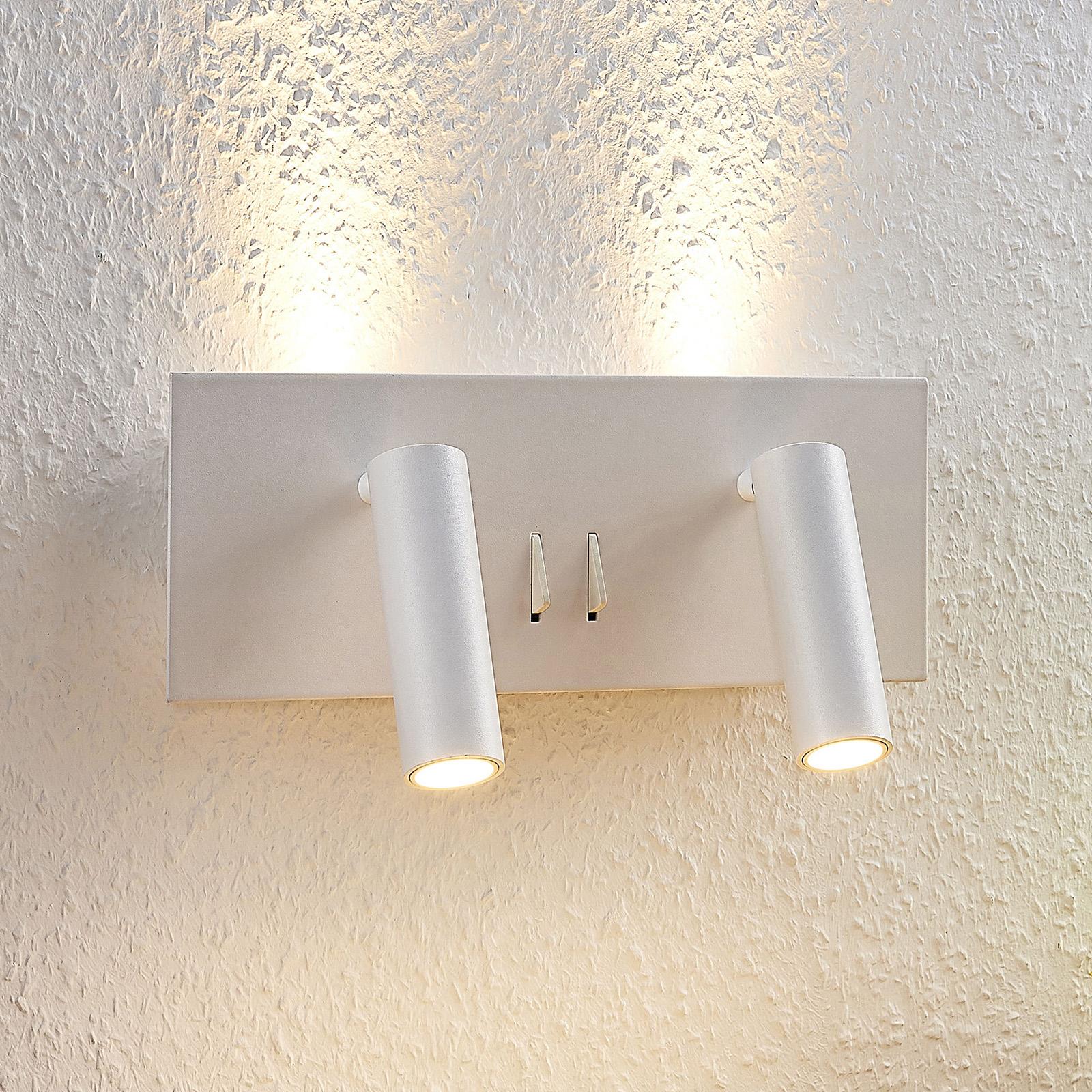 Lucande Magya valkoinen., 4-lamppuinen