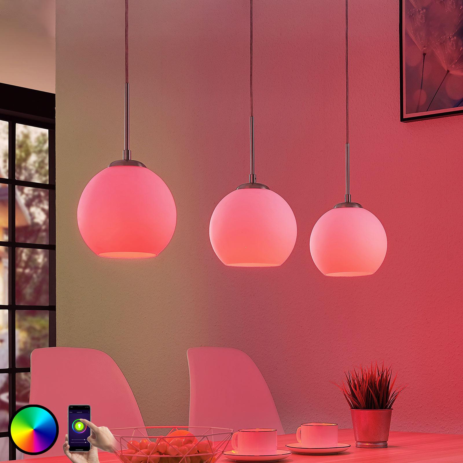 Lindby Smart Morrigan LED hanging lamp, app