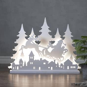 LED-dekolys Grandy julenisse, 80 cm lang