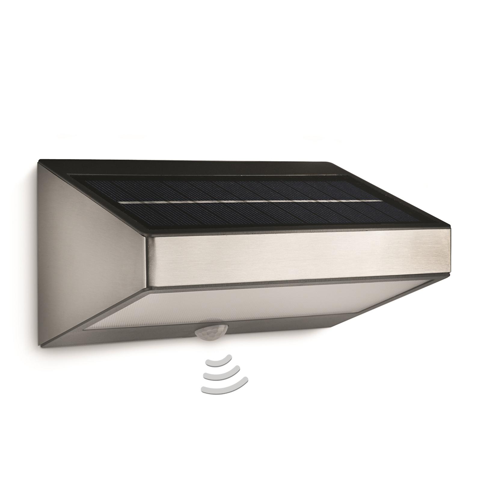 Solarna lampa ścienna GREENHOUSE z czujn. ruchu