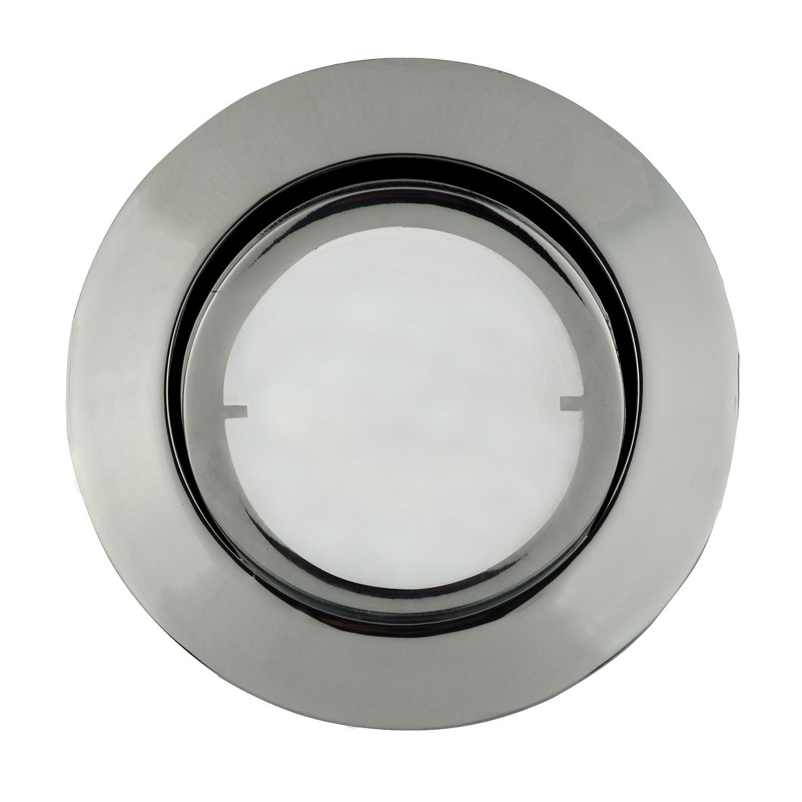 Okrągła lampa wpuszczana LED JOANIE, chrom