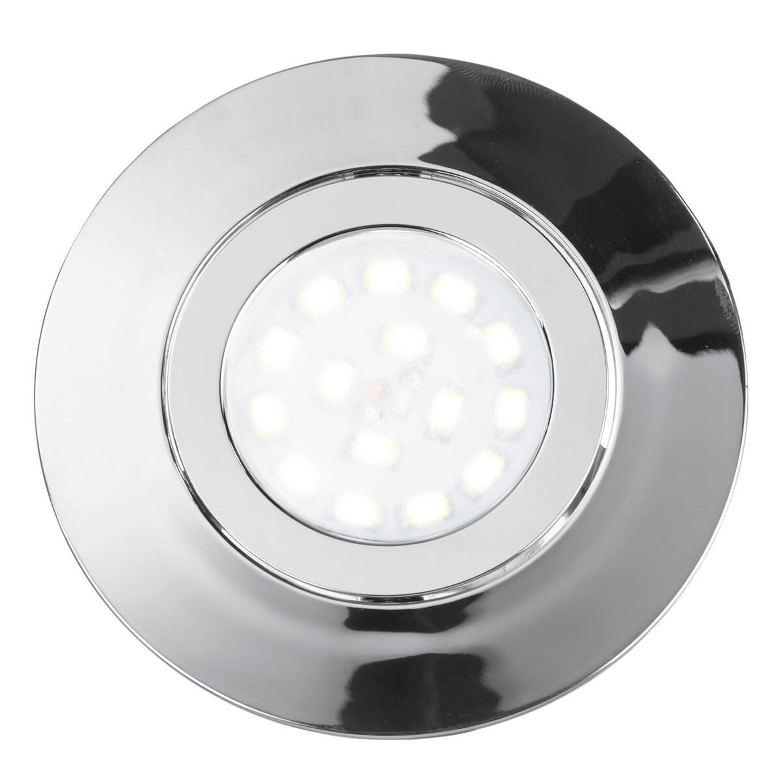 LED-Einbaustrahler Zenit mit IP44, chrom