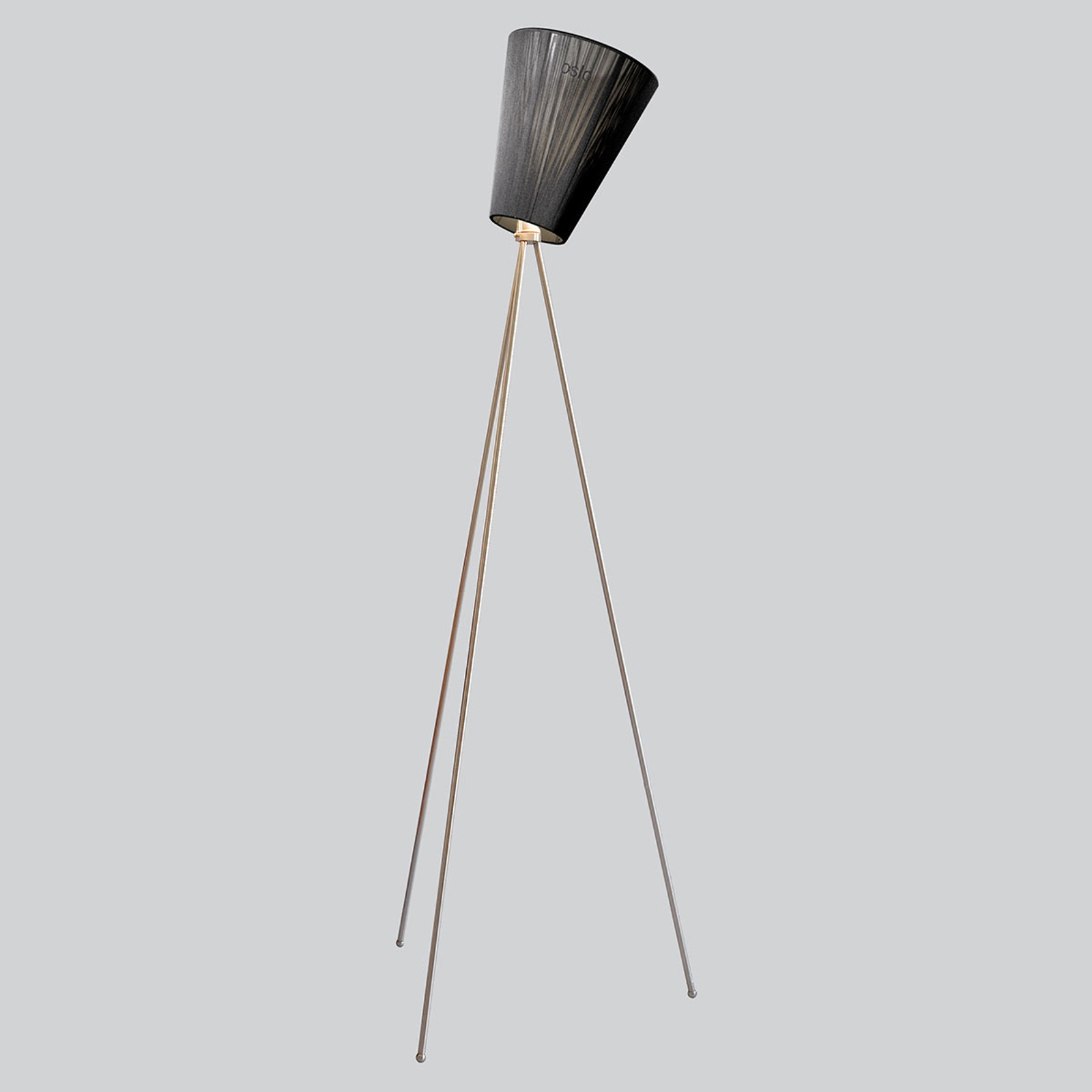 Northern Oslo Wood gulvlampe stål/sort