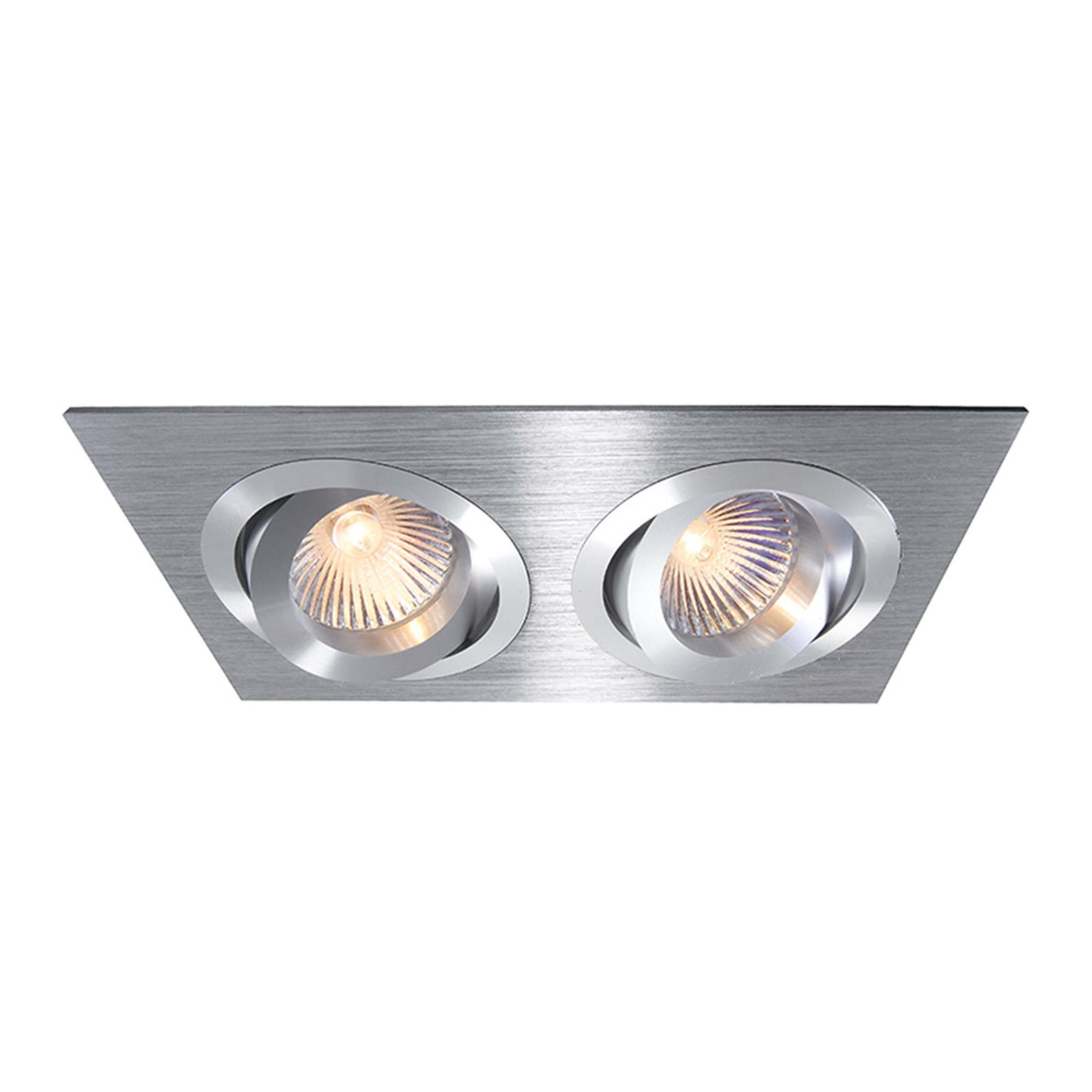 2-bulb pivotable aluminium recessed light_2501077_1